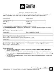 4000 New Vendor Form